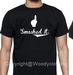 smashed it tshirt, black tshirt, funny slogan tshirt , thumbs up tshirt, smashed, tshirt, logo tshirt , top, hoodie, sleeveless, slogan by woodyclothing on Etsy https://www.etsy.com/uk/listing/460955218/smashed-it-tshirt-black-tshirt-funny