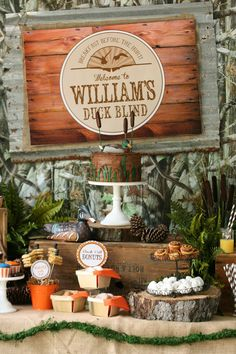 Adorable Duck Dynasty Duck Hunting Themed Boys Party.  Pink Peppermint Prints and Parties – Party Styling, Birthday and Kids Party Ideas, Party Supplies, Paper Crafts, Recipes, DIY and Design Inspiration