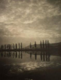 Czech pictorialism - Drahomir Josef Ruzicka, Prague- Evening on the river