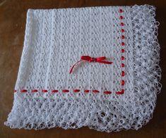 Manta de Bebê - Crochê branca