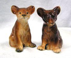 Vintage Ceramic Brown Bear Salt & Pepper Shakers Victoria Ceramics  Japan by MermeowTreasures on Etsy