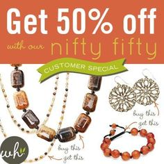 This is such a great deal for all your guests at a Willow House Sara Blaine jewelry party.  Schedule a jewelry party for  the last week in November or the first week of December and be entered in a drawing for a FREE decor item IN ADDITION to all the normal host rewards.  (My jewelry hosts who have already scheduled their parties will also be entered) Don't want the hasstle of doing it at home; let's discuss your options!!!