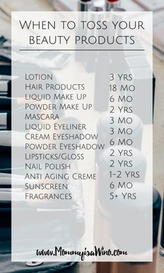 When to toss Beauty Products
