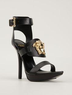 Versace Black Medusa Platform Sandals #Shoes #Heels #HighHeels
