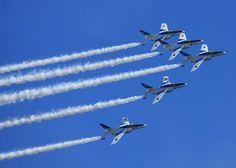 Blue inpulse Japan Air Self-Defense Force fighter aircraft
