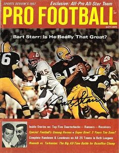 Bart Starr signed Green Bay Packers Sports Review's 1967 Magazine - Autographed NFL Magazines -- Find out more about the great product at the image link.