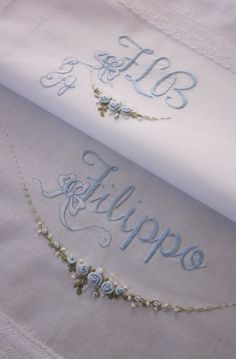 Elizabeth hand embroidery: Layettes Birth and Baptism