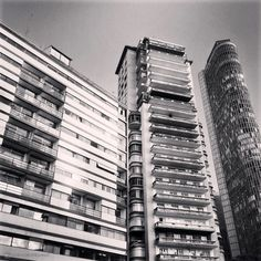 From left to righ: Edificio Esther, Sao Tomas and Italia