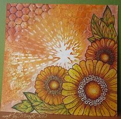 chocolate baroque stamps love this looks like a sunburst of lovely flowers