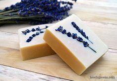 Honey & Lavender Soap Recipe + Instructions Natriumlaktat erhältlich bei Kosmetikmanufaktur Theresia Sturmberger