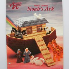 Noah's Ark with Animals Plastic Canvas Pattern Toy Annie's Leaflet 87N29 by PatternMania3 on Etsy