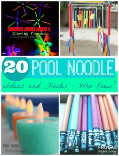 20 Pool Noodle Ideas and Hacks - Who Knew? Round-Up of Summer Games and fun Pool Noodle Uses on Frugal Coupon Living.