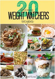 20 Delicious Weight Watchers Recipes from TheHowToCrew.com. You are going to want to try all of these recipes.