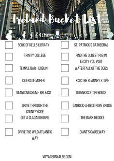 Ireland travel bucket list. Blog — Voyageur Kalee More