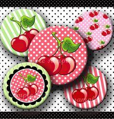 INSTANT DOWNLOAD I Love Cherries 190 4x6 Bottle by bottlecapmania, $2.20