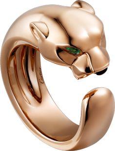 Panthère de Cartier ring Pink gold, tsavorite garnets, onyx