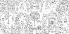 Coloring Page World: Garden (Landscape)