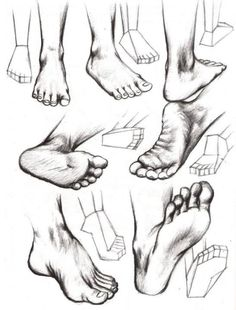 how to draw feet....Sarah, just in case you wanted a foot mural in your house! ;)