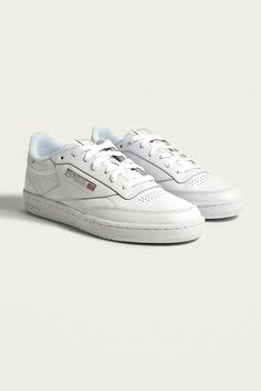 67327824d37 Reebok Club C 85 White on White Leather Trainers