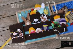 Bible quiet book, church busy book, handmade fabric Bible story Nativity