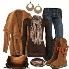 Love the boots & sweater