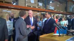 Gov. Scott with The CI Group's Drew Marshall and Manny Bhuller #KeepFLWorking