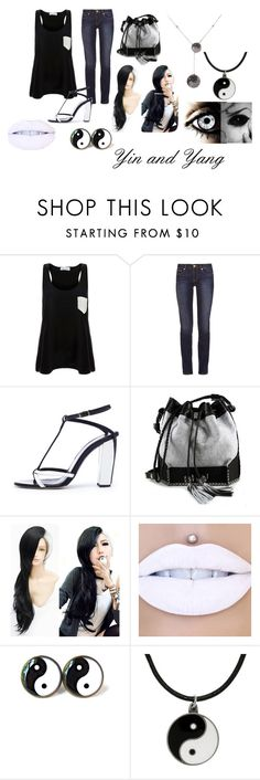 """Yin and Yang"" by eyeless-angel-of-death ❤ liked on Polyvore featuring Solid & Striped, Tory Burch, Oscar de la Renta, Carianne Moore and Carolina Glamour Collection"