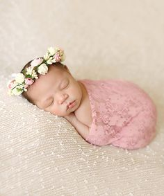 Look what I found on #zulily! Chicaboo Pink & White Lace Wrap & Flower Crown by Chicaboo #zulilyfinds