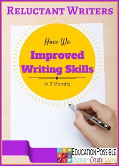 Reluctant Writers: How We Improved Writing Skills in 3 Months. My kids even said it was fun! @Education Possible