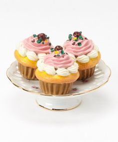 Another great find on #zulily! Rose Doll Cupcake & Cake Plate Set #zulilyfinds