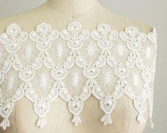 Marilyn Extra Large White Edwardian Venise Lace Trim / Bridal / Wedding Dress Lace / Wide Venise Lace Trim / Fancy Lace Trim