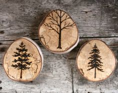 woodburned winter tree - Google Search