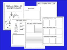 Students write a journal/diary from the perspective of ANY explorer, whether an explorer of state, country or continent  MY EXPLORER JOURNAL - SOCIAL STUDIES UNIT APPLICATION - TeachersPayTeachers.com