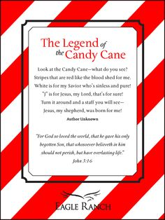 Legend of the Candy Cane.   #Quote #Christmas #CandyCane #Jesus