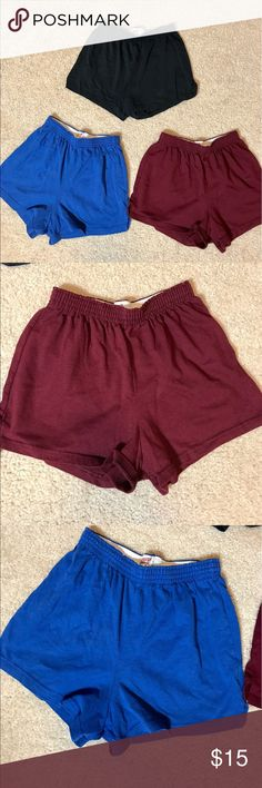 Soffe Shorts Bundle - Size Medium Three pairs of Soffe shorts in black, blue, and maroon. Gently used and in good condition! Soffe Shorts