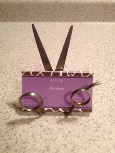Custom Upcycled Scissor Business Card Holder
