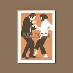 Affiche du film Pulp Fiction 12 x 18 pouces par ClaudiaVarosio