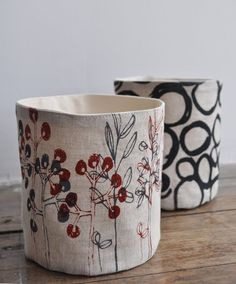 lovely fabric buckets- check out the new issue of b.a.h. mag for a tutorial!