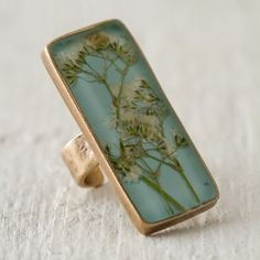 styling by melissa j. lowrie   Terrain Pressed Baby's Breath Botanical Ring #shopterrain