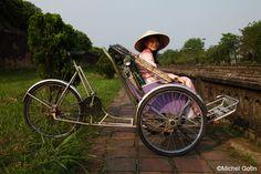 #Vietnam - Hue - Cyclo Pousse © Michel Gotin by Easia Travel