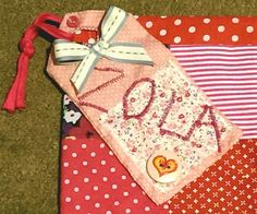 Handmade fabric name tag :)
