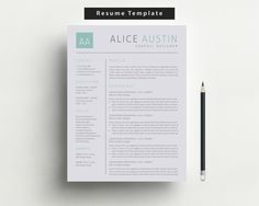 Pk Resume  Modern Cv Template  Cover Letter For Ms Word  Iwork