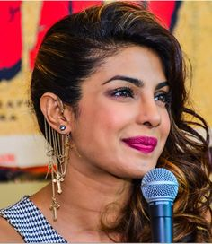 Celeb trend alert: Bollywood beauties rock stunning ear-cuffs!...Priyanka Chopra made a busy look work for her as she attended a press meet wearing chains and tiny trinkets, all in one ear-cuff.
