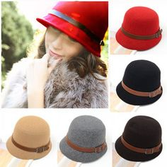 mobile site-Fashion Vintage Autumn Winter Multicolor Adult Women Dome Hat Fedora Hat England Bowler Caps Ladies Headwear Bucket Hat less than php300