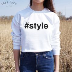 * #Style Crop Sweater Jumper Top Cropped Fashion Blogger Summer Street Style * #Unbranded