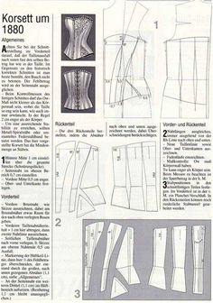 corsetto steccato,come fare carta modello del corpetto