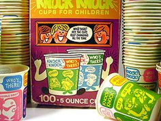 1970s Dixie Riddle Cups. I had totally forgotten these!