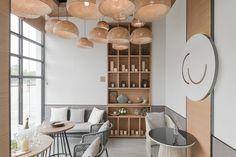 *패브릭 인테리어 카페 [ Far Office ] 101 café_Changsha Shi,Hunan Sheng,China Coffee Shop Design, Cafe Interior, Interior, Interior Spaces, Modern Interior Design, Cafe Design, Interior Design, Modern Cafe, Modern Interior
