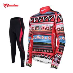 Tasdan Cycling Wear Cycling Clothes Women's Winter Cycling Jersey Sets