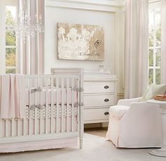 love this nursery but would go with lilac and gray color scheme- restoration hardware